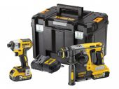 Dewalt DCK2532P2 XR 18v Hammer Drill & Impact Driver With 2 x 5.0ah Batteries - £449.99 INC VAT