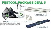 Festool Package 5 TS 55 R 110v Plunge-Cut Saw 2 FS 1400 Guide Rails, 2 Connectors,2 Clamps and Bag - £474.97 INC VAT
