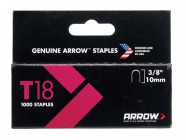 "Arrow 186/T18 3/8"" -10mm Round Crown Staples (approx 1000)"