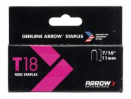 "Arrow 187/T18 7/16"" - 11mm - Round Crown Staples (approx 1000)"
