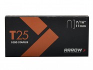 "Arrow 257/T25 7/16"" - 11mm Round Crown Staples (approx 1000)"