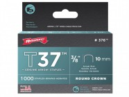 "Arrow 376/T37 3/8"" - 10mm Round Crown Staples (approx 1000)"