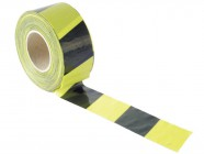 Faithfull Barrier Tape 70mm x 500m Black/yellow