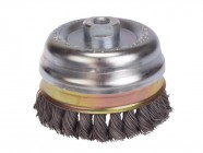 Lessman Knot Cup Brush 100 x M14 x 25 x 0.50 Stainless Wire
