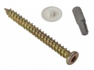 Forgefix Concrete Frame Screw Torx® Compatible High-Low Thread ZYP 7.5 x 102mm Box 100