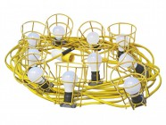 Faithfull Power Plus Festoon Lights Low Energy 10 LED Bulbs 110V 22m