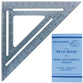 Swanson T0108 Big 12 Speed Square Layout Tool with Blue Book Plain gradations