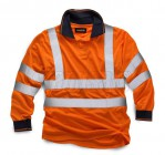 Stand Safe HV005 Hi Vis Long Sleeve Polo - Large