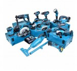 Makita 18v Li-ion 13 Piece Cordless Kit With 4 x 5.0ah Batteries