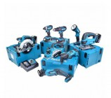 Makita 18v Li-ion 8 Piece Cordless Kit With 4 x 4.0ah Batteries