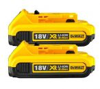 Dewalt DCB183 XR 18v Slide Battery Pack 2.0ah Li-Ion - Pack Of 2 - £50.00 INC VAT