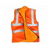 Stand Safe HV010 Hi Vis Reversible Orange Fleece Bodywarmer - Extra Large