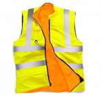 Stand Safe HV010 Hi Vis  Reversible Yellow Fleece Bodywarmer - Extra Large
