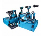 Makita 18v 5 Piece Fully Brushless Kit With 3 x 5.0ah Batteries