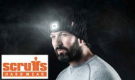 Scruffs LED Head Light on Beanie Hat Warm Workwear Black USB Chargeable